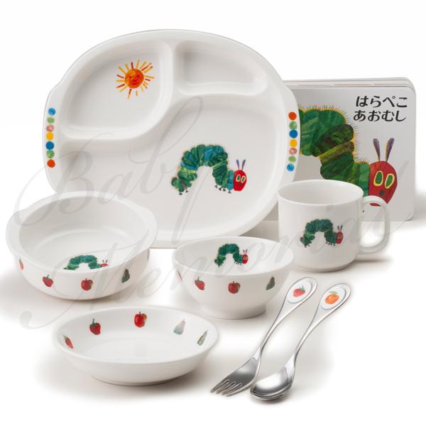 NIKKO|はらぺこあおむし ぱくぱくセット|8点セット テーブルウェア ベビー食器 キッズ食器セット プレートセット お誕生日 お食い初めに最適♪ ラッピング無料 名入れなしです