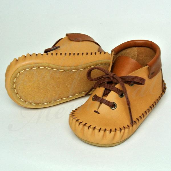 靴づくり屋 chisaka(チサカ)|ファースト ステップ シューズ|ベビー靴 ルピュイ II ブラウン サイズ12.0cm(フランス製カーフレザー) 名入れ・お誕生日・内祝い・出産祝いに最適♪ ラッピング無料 名入れ対応