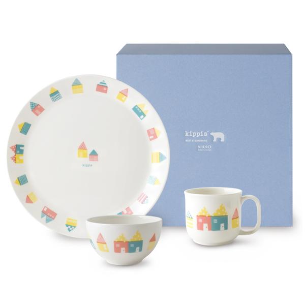 NIKKO kippis(キッピス) Mokki(モッキ)/コテージ ごはん(3点)セット テーブルウェア 北欧デザイン ベビー食器 プレートセット お誕生日 お食い初め 出産祝いギフトに最適♪【ラッピング無料】