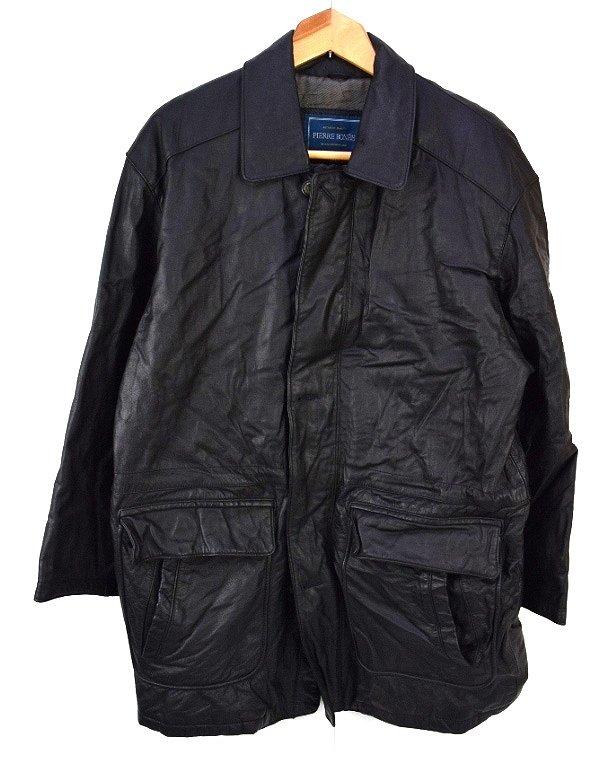 PIERRE BONEE Pierre born middle-length cowhide leather jacket M Black's!, thrift