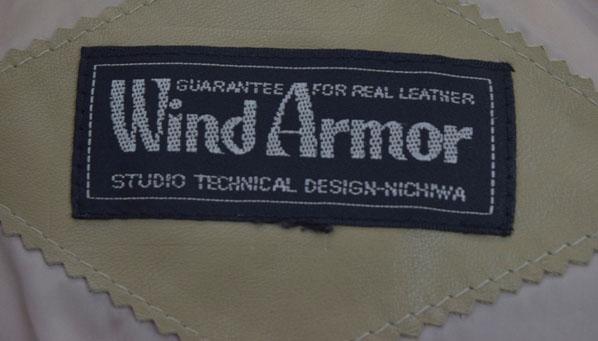 Wind Armor牛皮皮革羽绒服浅驼色&/旧衣服
