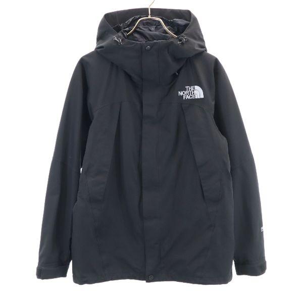 ノースフェイス ナイロン ストリートファッション 中古 ナイロンジャケット いよいよ人気ブランド 新商品!新型 M 黒 NORTH 200921 メンズ ロゴ刺繍 FACE THE