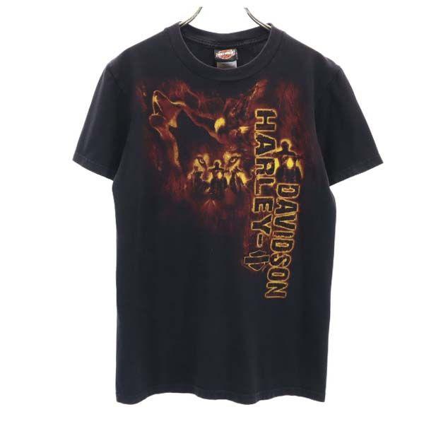 ハーレーダビッドソン 半袖 Tシャツ S メンズ 保証 ブラック 商店 HARLEY メール便可 210623 中古 DAVIDSON ロゴ