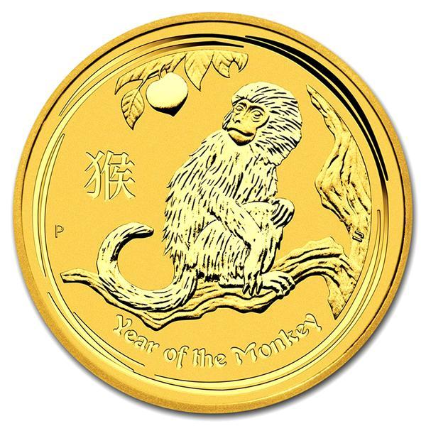 【純金 コイン 金貨】(純金コイン)24金 干支 金貨 猿 申 1/4オンス 2016年 オーストラリアパース発行 クリアケース付 (縁起物 送料無料 99.99 gold coin au tiger Australia zodiac)