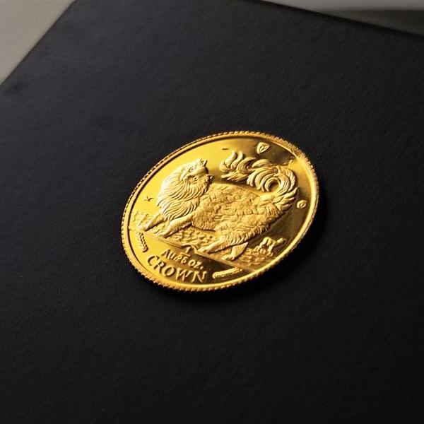 人気のキャット金貨です 発行年によってねこちゃんが変わるので お気に入りを見つけてください 1993年はメインクーン 贈り物 24金 キャット 金貨 1 25オンス 1993年製 品位 硬貨 純金 ゴールド マン島政府発行 CROWN 激安超特価 99.99% コイン 金 貨幣