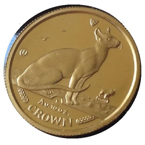 【猫 コイン】キャット 金貨 1/10オンス 1992年製 マン島政府発行 純金 金 ゴールド コイン 品位 99.99% 24K 硬貨 貨幣 ねこ ネコ