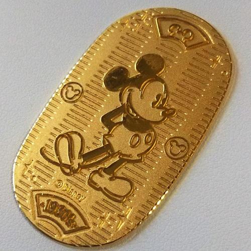 【純金 小判 金貨】24金 ディズニー小判 20g 箱付き 送料無料 Disney Mickey Mouse