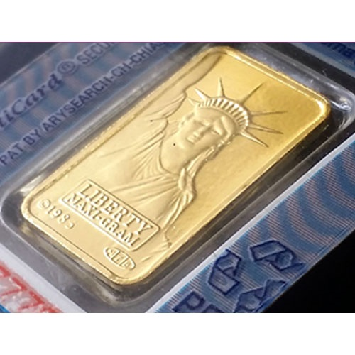 純金 インゴット ingot 金地金 24金 スイスクレジット 純金インゴット リバティ 5g 女神 グッドデリバリーバー
