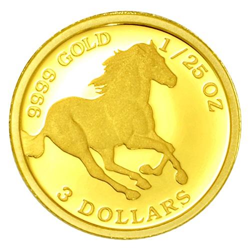 【純金コイン】ツバルホース金貨 1/25オンス ツバル政府発行 純金 金 ゴールド コイン 品位 99.99% 硬貨 貨幣