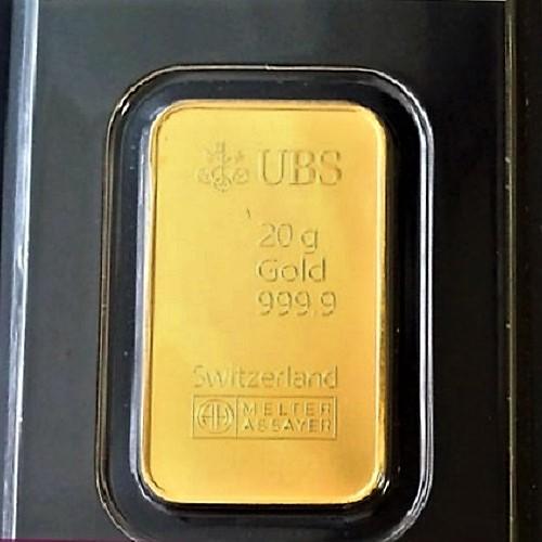 純金 インゴット ingot 金地金 24金 純金インゴット UBS kinebar 20g スイス グッドデリバリーバー コインバー 送料無料 24k k24 gold ingot 99.99% au