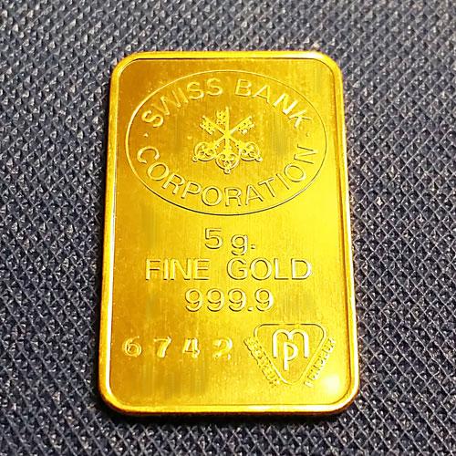 【純金インゴット 延べ棒】24金 SBC ゴールドバー 5g 24k UBS 発行 スイスバンクコーポレーション スイス 24k k24 gold ingot