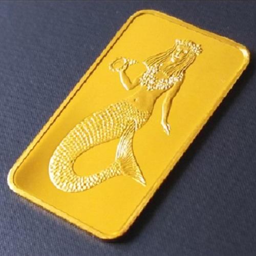 純金 インゴット ゴールドバー マーメイド金貨 1/20オンス パラオ共和国 1995年製