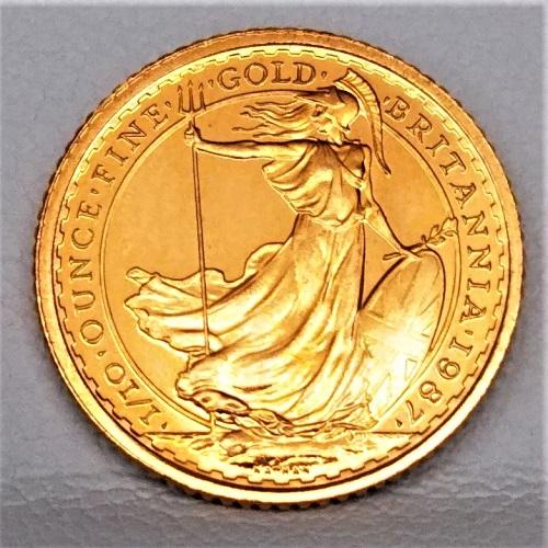 22金 ブリタニア金貨 1/10オンス 1987年 イギリス王室造幣局発行 英国 10ポンド ゴールドコイン