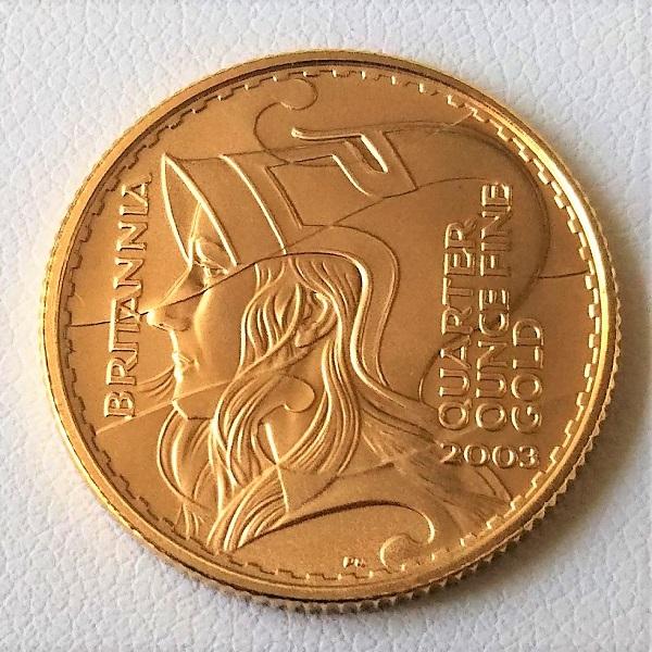 【金 コイン 金貨】ブリタニア金貨 1/4オンス 2003年製 ゴールドコイン 25ポンド イギリス 保証書付