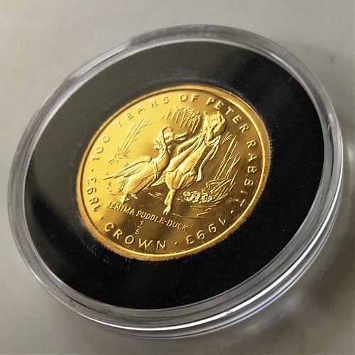 【純金 コイン 金貨】24金 ピーターラビット金貨(あひるのジマイマ) 1/5オンス ジブラルタル発行 コインケース付き