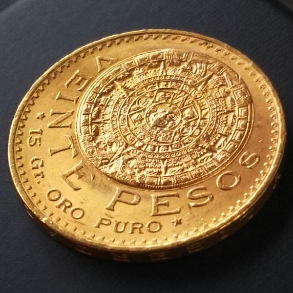 金コイン メキシコ20ペソ金貨 1959年刻印 メキシコ合衆国発行