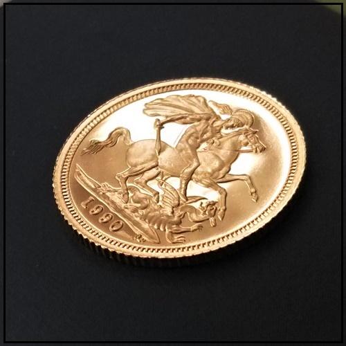 金コイン ソブリン金貨 1/2sov(ハーフ) イギリス 保証書付 ゴールドコイン プルーフ