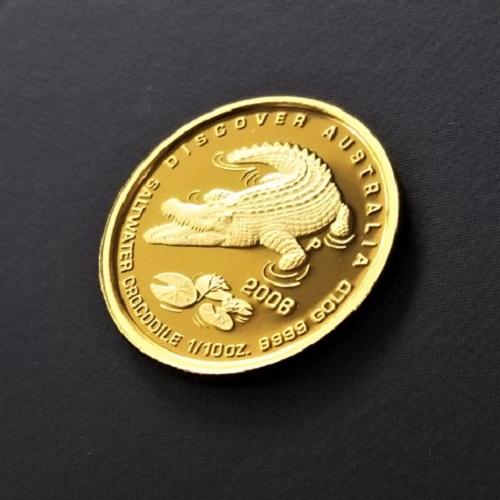 【金貨 純金 コイン】24金 オーストラリア金貨(ワニ) 1/10オンス 2006年製 ソルトウォータークロコダイル リエワニディスカバーオーストラリアシリーズ 金 ウェルカムゴールド コイン 品位 99.99% 硬貨 貨幣
