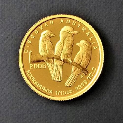 【金貨 純金 コイン】24金 オーストラリア金貨(カワセミ) 1/10オンス 2006年製 オーストラリアディスカバーオーストラリアシリーズ 金 ゴールド コイン 品位 99.99% 硬貨 貨幣
