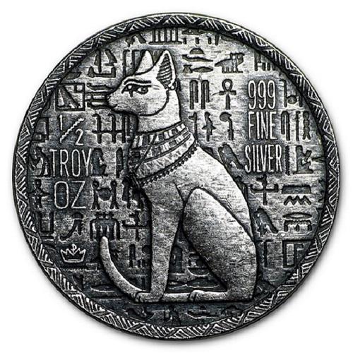 古代エジプトシリーズ銀貨 猫の女神バステト 出荷 象形文字 純銀コイン エジプト 猫の女神 バステト銀貨 モナークプレシャスメタル発行シルバー 1 エジプト神 2オンス 保証書付き 着後レビューで 送料無料 15.5gの純銀 コイン