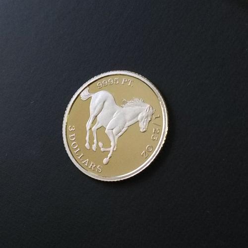貴重な金属プラチナをデザインコインに 南太平洋のツバル発行 ツバルホースプラチナ プラチナ 日時指定 コイン ツバルホース ツバル政府発行 予約 馬 25オンス Pt9995 1 プラチナ貨