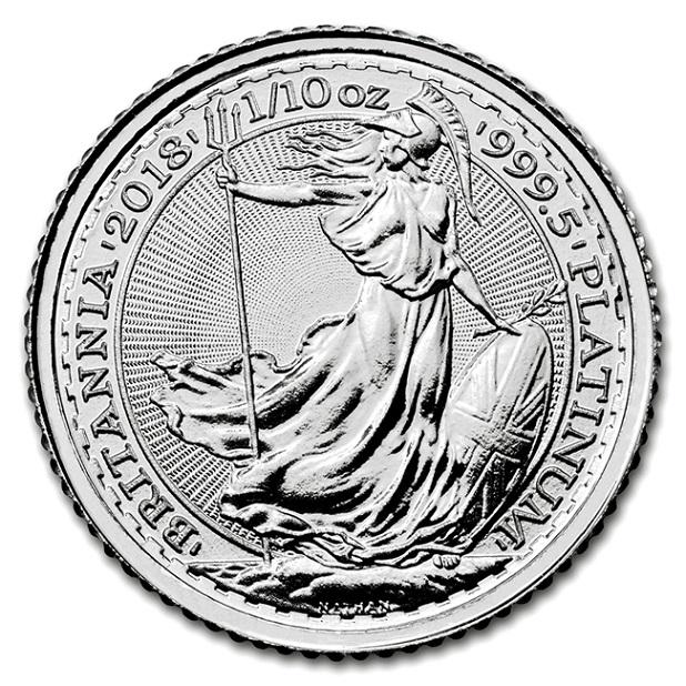 【プラチナ コイン】ブリタニア プラチナコイン 1/10オンス 2018年製 イギリス王立造幣局純プラチナ 白金 白金貨 9995 platinum britannia 10pounds エリザベス女王