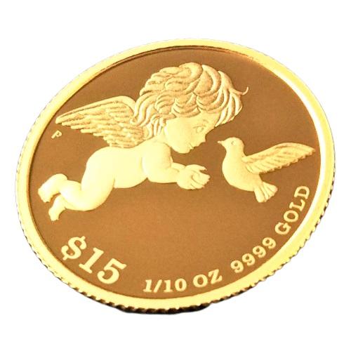 即納 新商品 舗 純金の天使の1 10オンスコイン かわいらしい鳩とエンジェルが幸せを運びます 1 10オンスは約3.1gの純金コインです 純金 コイン 金貨 24金 K24 99.99% 幸福を運ぶ純金の天使と鳩 純金ゴールドコインをお守りに 10オンス アミュレット ツバル政府 ツバルエンジェル金貨 大