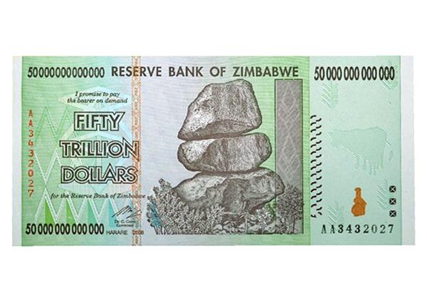 With 50000000000000 Zimbabwe Dollar