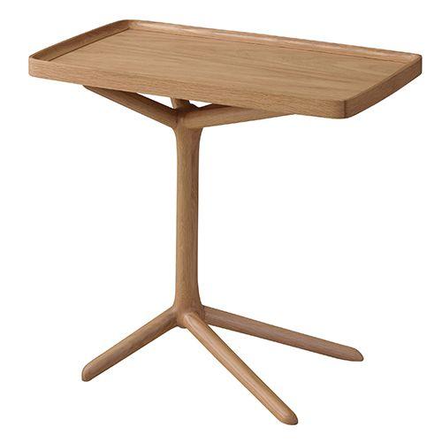 2WAY サイドテーブル GT-880NA 北欧 木製 おしゃれ レトロ モダン サイドデスク ベッドサイド ダイニングテーブル トレーテーブル