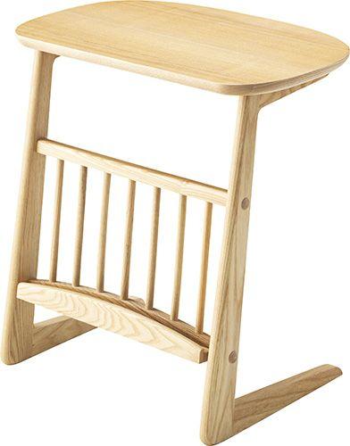 ヘンリー ワイドサイドテーブル HOT-635NA 北欧 木製 おしゃれ ソファーサイド サイドテーブル サイドデスク ベッドサイド サイド ベッドテーブル ソファサイド コンパクトデスク