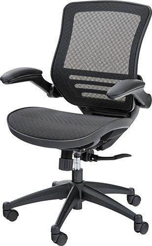 オフィスチェア OFC-22BK チェア メッシュ オフィスチェア 肘付き パソコンチェア 椅子 事務椅子 チェア オフィス