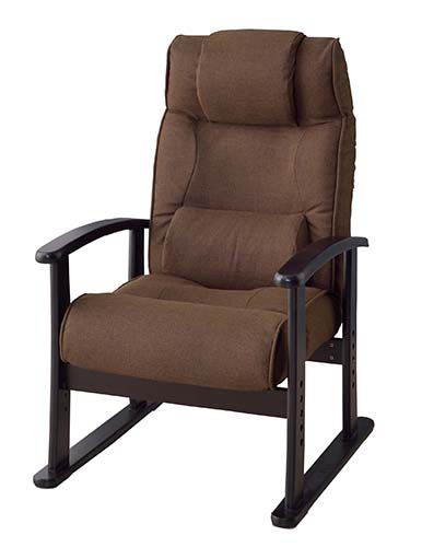 楽々チェア RKC-38BR パーソナルチェア 座椅子 楽々チェア リクライニング 高さ調節可 スタイリッシュ 椅子 ソファ