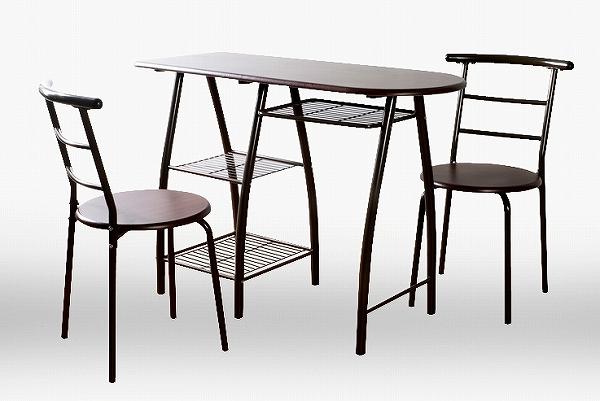 送料無料 ダイニングテーブルセット DTS110ダイニングテーブルセットDTS110 スリム ダイニングテーブル キッチンテーブル バーテーブル 3点セット バーチェアー カウンターチェアー カウンター椅子 バー スタンドチェア