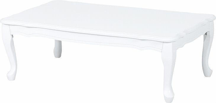 送料無料  フェミニンシリーズ 折れ脚テーブル(ホワイト) MT-7031WH