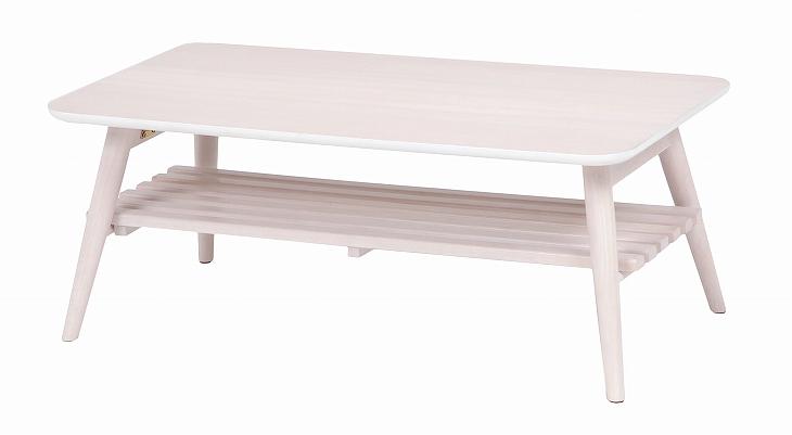 送料無料 HAGIHARA 折れ脚テーブル(ホワイトウォッシュ) MT-6921WS