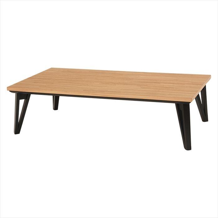 送料無料 リビングコタツ ルーン150NA 幅150×奥行80×高さ40cmこたつ 天然木 モザイク 長方形 150×80 アンティーク 北欧 おしゃれ テーブル フラットヒーター