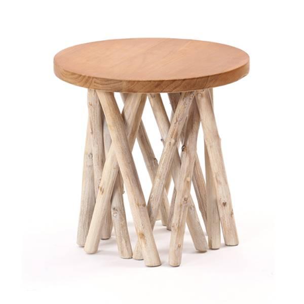 送料無料 アジアン家具 @CBi(アクビィ) 木製 サイドテーブル AZT004