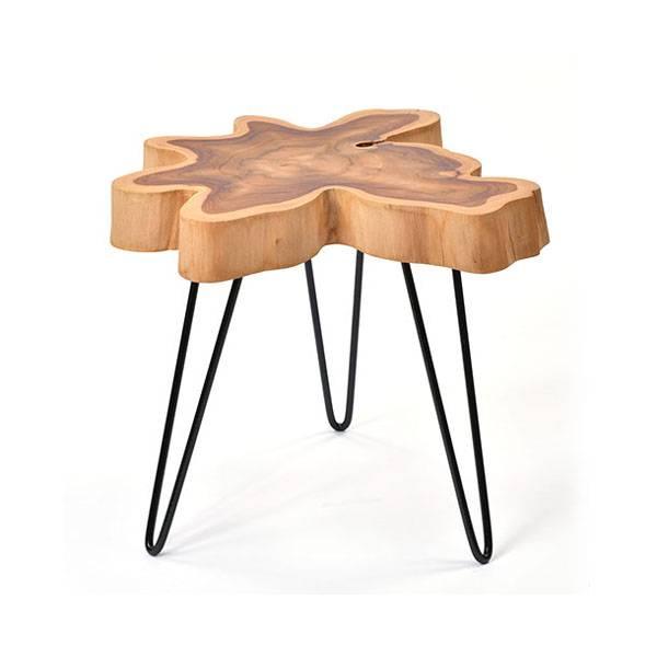 送料無料 アジアン家具 @CBi(アクビィ) チーク無垢材 サイドテーブル AZT005