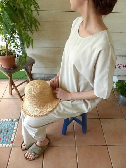 evam eva vie (エヴァムエヴァ) organic cotton tunic(V171T957)