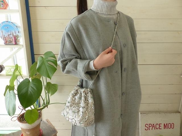 casselini(キャセリーニ) フラワー刺繍レース巾着(183-270503)