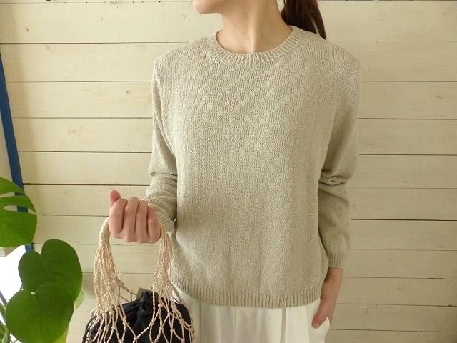evam eva(エヴァムエヴァ) cotton coil pullover(E191K049)