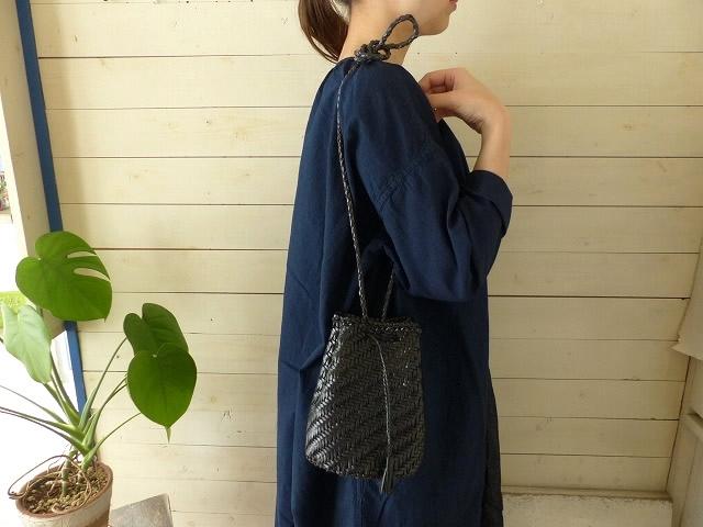 hint 細メッシュレザーの巾着バッグ(BAG34)
