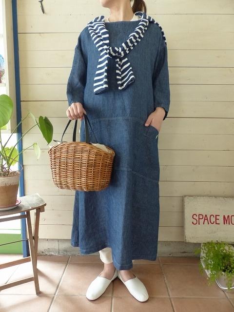 SARAHWEAR(サラウェア) 2WAY Indigo Linen Gardener Dress(C-71026)