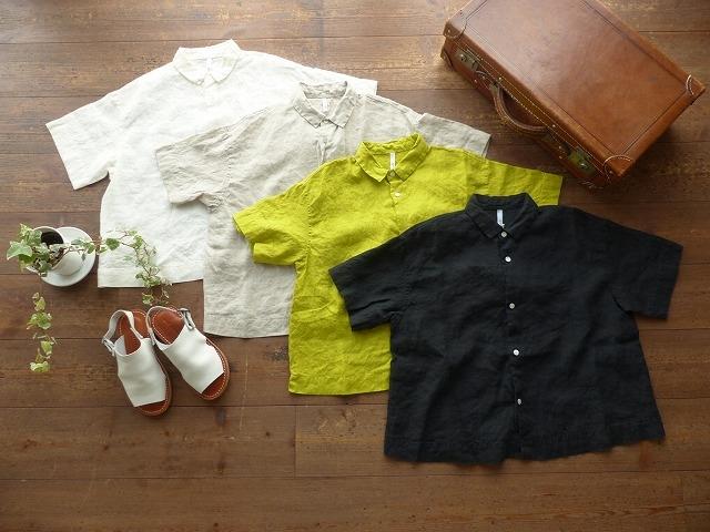 grin(グリン) リネンショートシャツ(8192T003)