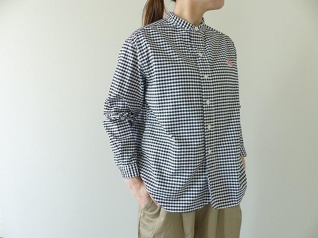 DANTON(ダントン) OXFORD PLAIDノーカラーシャツ(JD-3606TRD)(JD-3607TRD)