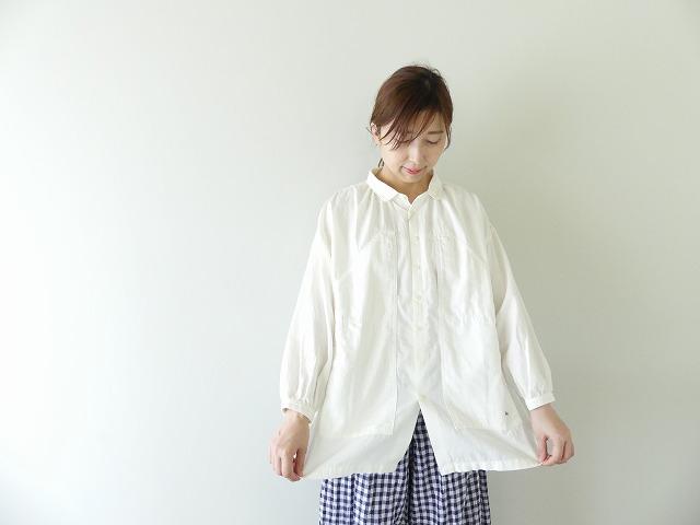 快晴堂(かいせいどう) コットンWOOLビエラWORKポケット長袖シャツ(03S-11)