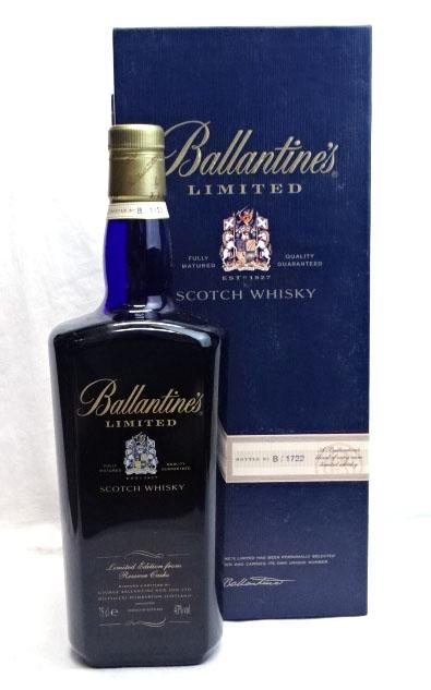 バランタイン アウトレットセール 特集 リミテッド お求めやすく価格改定 750ml 43度 箱付 シリアルナンバー入り Whisky Scotch Ballantine's Limited スコッチウイスキー