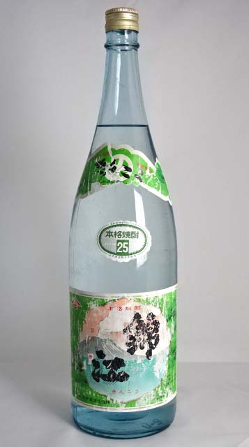 Moriizo Kinko green label (clear bottle) sweet potato shochu 1800 ml 25 degrees co. Mori Izo distillery A00201