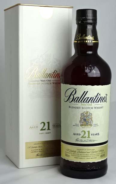 龄坛 21 年 700 毫升 40 ° 白色盒一起把巴兰坦苏格兰威士忌 A00878