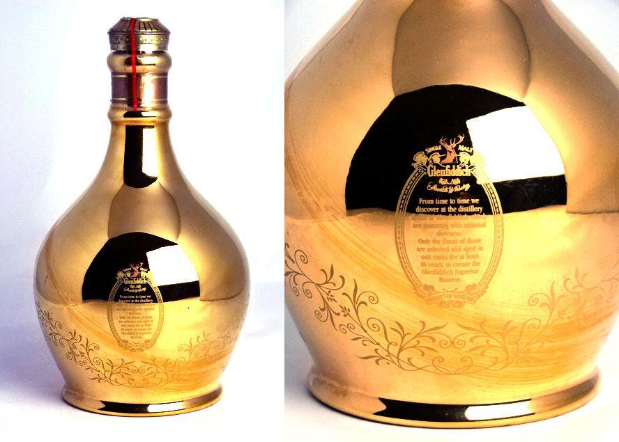 格兰菲迪 18 年高级储备 (黄金) 陶瓶 700 毫升 43 ° 威士忌格兰菲迪威士忌 A01014
